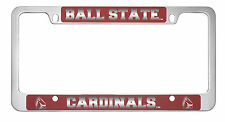 Ball State University -Metal License Plate Frame-Red