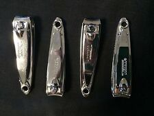 "Four NOS Original Bassett Trim 2"" Finger Nail Clippers with File USA MADE!!!"