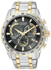 Citizen AT4004-52E Men's Watch Chronograph Two Tone Perpetual Calendar Atomic