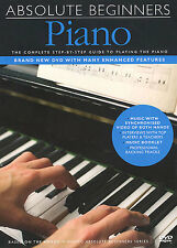 Absolute Beginners Piano Tutor Play Book Lesson DVD NEW