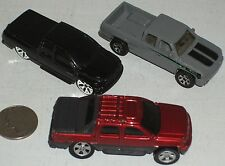 """Pickup 3pc Group #36 Dodge & 2 Chevy Trucks 3"""" USED -SEE PHOTO"""