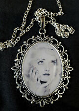 Young Bette Davis Large Silver Pendant Necklace All About Eve Movie DVD Eyes
