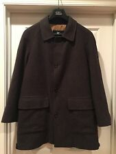 Men's Burberry London Wool Coat / Jacket Lined Check Insulated