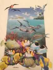Air Waves Scuba Divers T Shirt Coral Reef Mike Patrick Tropical Fish Adult S