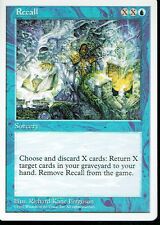 MAGIC THE GATHERING 5TH EDITION BLUE RECALL