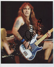 Steve Harris Iron Maiden Signed 8 x 10 Photo Genuine In Person