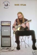 "BLACK LABEL SOCIETY ""ZAKK WYLDE PLAYING GUITAR BY AMPS"" POSTER FROM ASIA"