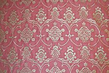 Mariano Fortuny Veronese Raspberry & Silvery Gold Designer Fabric 2 yards