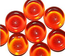Transparent Orange Tire Czech Pressed Glass Beads 16mm (pack of 8)