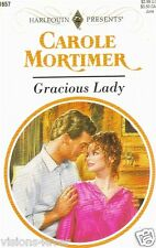 Gracious Lady by Carole Mortimer (1994, paperback) Harlequin book