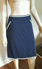 Moschino Cheap and Chic Navy Blue Skirt * Size 8 10 12 * Free Shipping