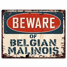 PPDG0020 Beware of BELGIAN MALINOIS Plate Rustic Chic Sign Decor Gift