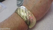 Stunning 42 gr Italian 14k Gold Wide Omega Bracelet 7 inch x 1-1/16th MAKE OFFER