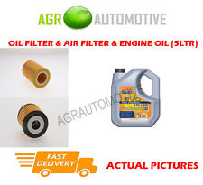 PETROL OIL AIR FILTER KIT + LL 5W30 OIL FOR SMART FORTWO 0.7 61 BHP 2004-07