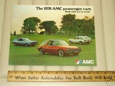 1976 AMC Passenger Cars Sales Catalog Brochure