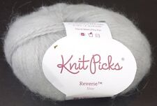Knit Picks Reverie Alpaca Yarn Worsted Silver Gray 26581 Soft and Fluffy