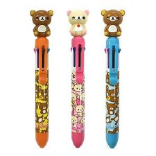 San-x Rilakkuma Mascot 8 Multi-Colored 0.7mm Ballpoint Pen : 3 pcs Set