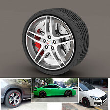 Car Tuning Vehicle Wheel Rims Protector Tire Guard Line Rubber Moulding Black