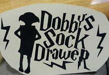 HARRY POTTER DOBBY DOBBYS SOCK DRAWER VINYL DECAL STICKER DECOR WALL ROOM