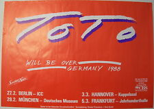 TOTO CONCERT TOUR POSTER 1988 THE SEVENTH ONE