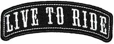 Live To Ride Embroidered Rocker Biker Patch Iron On Sew On