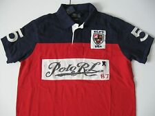 POLO RALPH LAUREN Men's Custom-Fit Color-Blocked Polo Shirt S