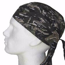 Fitted Bandana Woodland, Bandanna Durag Cap Head Wrap Sun Hat Brown Beige Trees
