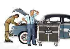 FORD SERVICE CENTER (1945) 3pc FIGURES SET 1/18 MOTORHEAD MINIATURES 171