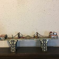 "Original Vintage ""Busy Bridge"" Tin Winder Toy 6 Cars by Louis Mark & Co. 1930"