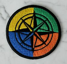 Geocaching COMPASS OUTDOORS IRON ON PATCH Aufnäher Parche brodé patche toppa
