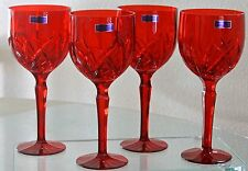 MARQUIS BY WATERFORD BROOKSIDE RED ALL PURPUSE WINE SET OF 4 CLEAR CRYSTAL NEW