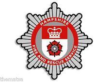 """4"""" HAMPSHIRE UK FIRE RESCUE HELMET BUMPER EMBLEM DECAL STICKER MADE IN USA"""