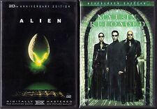 Alien (DVD, 1999, AAC; 20th Anniversary Edition) & The Matrix Reloaded (DVD)