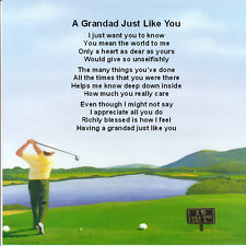 Personalised Coaster  A Grandad Just Like You - Golf  Design +  FREE GIFT BOX