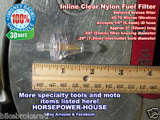 """INLINE FUEL FILTER BRONZE ELEMENT 40-70 MICRON @ 1/4"""" LINE SCOOTER MOPED MX BIKE"""