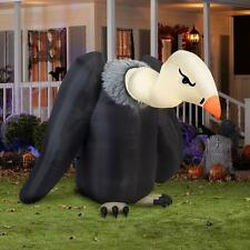 5.6' Animated Vulture Halloween Yard Inflatable - Airblown Yard Decoration