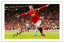 WAYNE ROONEY MANCHESTER UNITED SIGNED AUTOGRAPH PHOTO PRINT  SOCCER