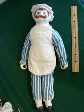 French Italian Cook Chef Doll Kitchen Figurine Porcelain & Fabric 18 1/2""