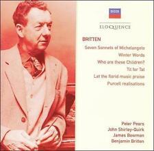 Michelangelo Sonnets, Winter Words (Pears, Britten) CD NEW