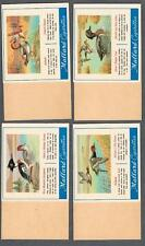 1953 C274 Houde & Grothe Waterfowl Uncut Tobacco Cards Near Set of 23/24