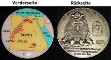 Qué bien Medalla vidrio del desierto líbico,Impaktit,50x5mm 55, 2 g