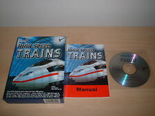 HIGH SPEED TRAINS ~ MICROSOFT TRAIN SIMULATOR ADD-ON BOXED COMPLETE