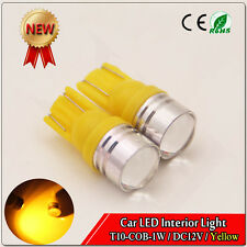 10x Yellow T10 W5W 194 168 2825 COB LED Wedge Light Bulb Car Dashboard Side Lamp