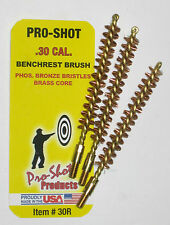 THREE (3) .30 Cal./7.62mm PRO-SHOT™ BRASS RIFLE BORE BRUSH 30-06 .308 M1 Garand