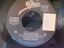 MICHAEL JACKSON 45 ON EPIC RECORDS WANNA BE STARTIN SOMETHING / WHO IS IT?