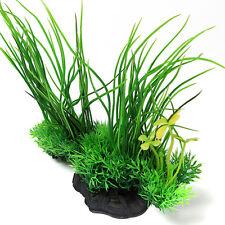 """8"""" Green Artificial Aquarium Fish Tank Plastic Plant Water Grass Decor Ornament"""