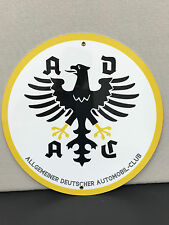ADAC german garage sign man Mercedes BMW cave advertising  round