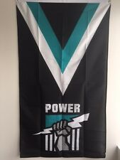 Port Adelaide Power AFL Supporters Flag 90 by 150cms! Officially Licensed Flag!