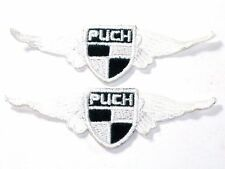 2 each puch white wings patch vintage motorcycle scooter like vespa