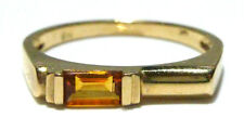 EFFY BH 14K YELLOW GOLD BAGUETTE CITRINE STACKABLE STACKING RING BAND SIZE 7.25